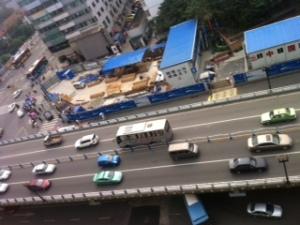 Baustelle für U-Bahn
